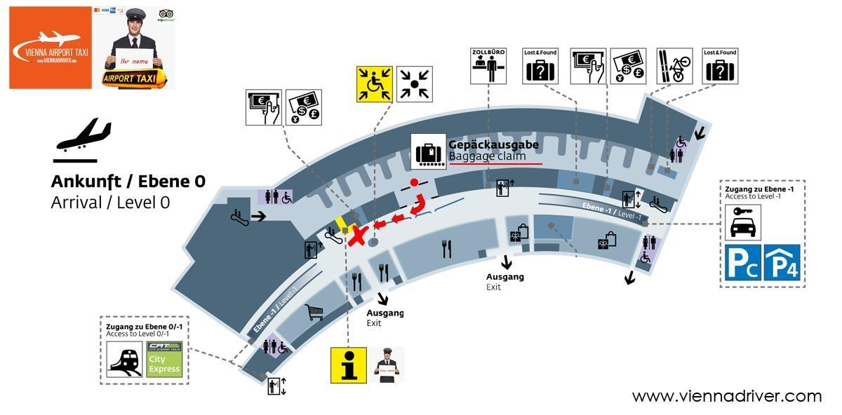Vienna Airport Taxi meeting point